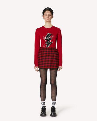 REDValentino Vichy 格纹羊毛短裤