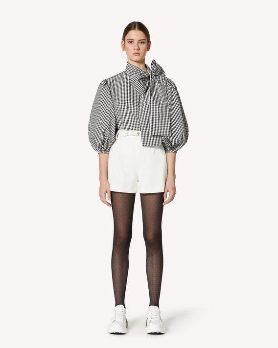 REDValentino 腰带款科技巧克丁短裤