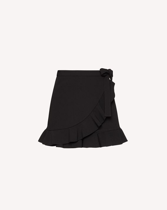 REDValentino 弹力双面绉绸褶饰短裤