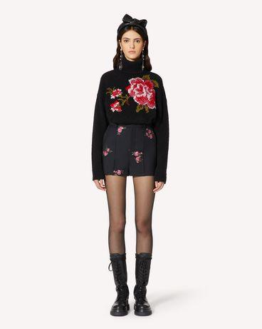 REDValentino 花卉提花华达呢短裤