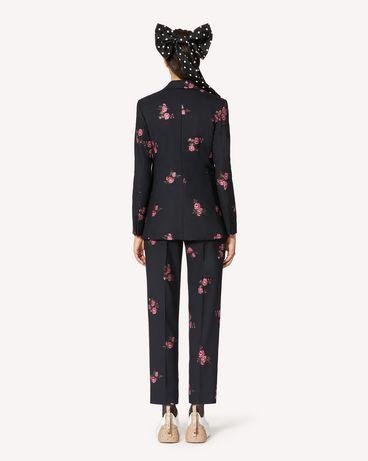 REDValentino 花卉提花华达呢长裤