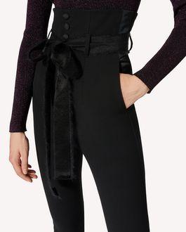 REDValentino 粘胶羊毛混纺华达呢塔士多长裤