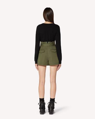 REDValentino 棉质羊毛混纺华达呢短裤,配腰带