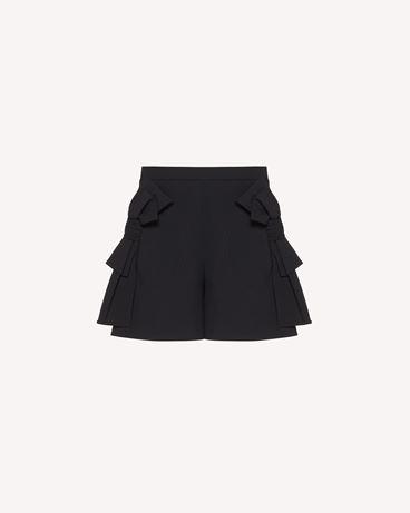 REDValentino 蝴蝶结细节弹力黏胶羊毛混纺华达呢短裤