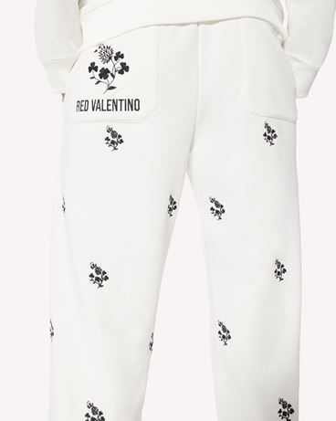 REDValentino 四叶草刺绣卫裤