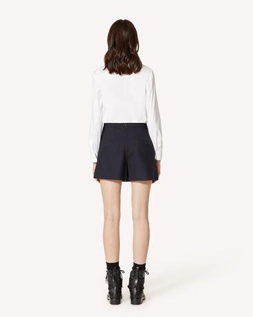 REDValentino 褶饰细节细条羊毛短裤