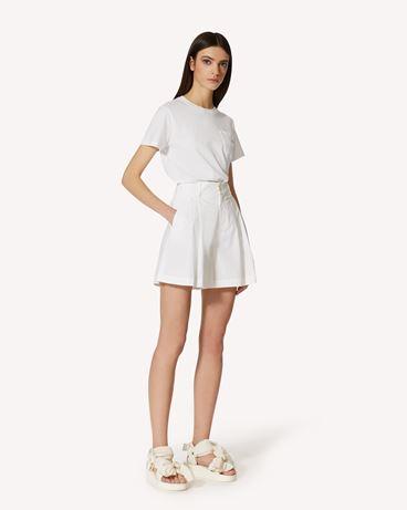 REDValentino 棉质府绸短裤