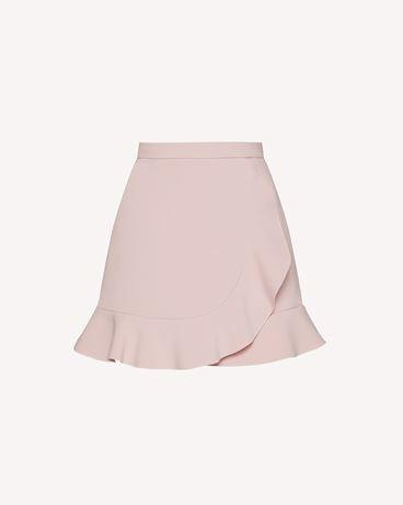 REDValentino 褶边细节科技卡迪短裤