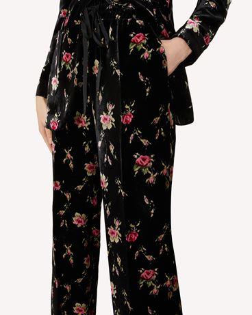 REDValentino Sweet Roses 印纹天鹅绒长裤
