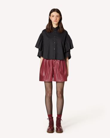 REDValentino 皮革短裤