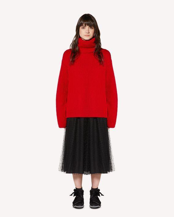 "REDValentino ""Red Ladies""嵌花羊毛毛衣"