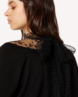 REDValentino 蕾丝与羊毛毛衣