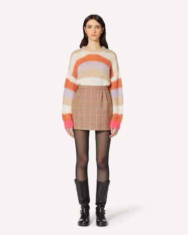 REDValentino 多色条纹马海毛毛衣