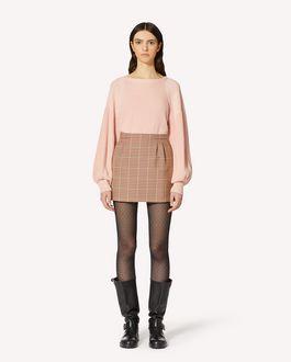 REDValentino 泡泡袖羊毛毛衣