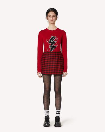 REDValentino Red Girl 提花羊毛毛衣
