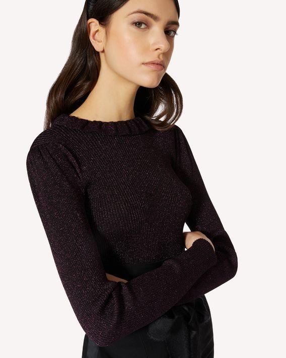 REDValentino 羊毛卢勒克斯织物毛衣