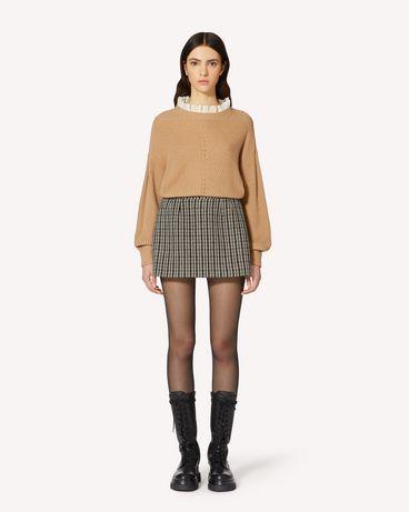 REDValentino  羊毛混纺毛衣与蕾丝