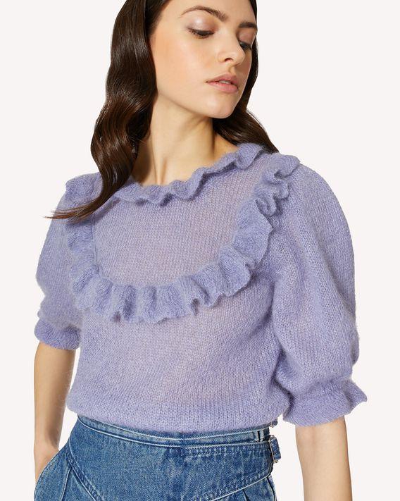 REDValentino 褶饰细节马海毛混纺毛衣