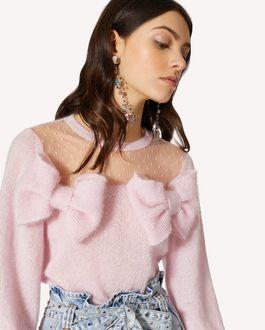 REDValentino 蝴蝶结细节马海毛混纺毛衣