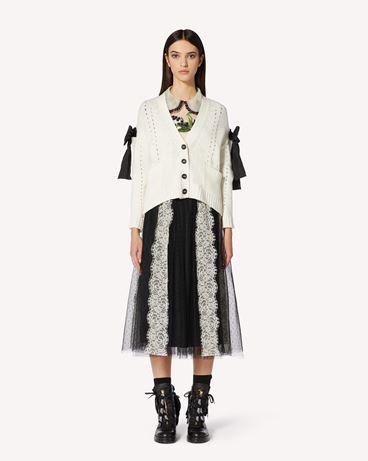 REDValentino  羊毛混纺针织开衫配蝴蝶结