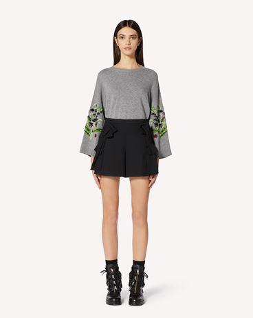 REDValentino 花卉提花羊毛混纺毛衣