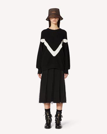REDValentino RED 刺绣羊毛混纺毛衣