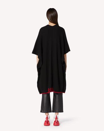 REDValentino RED 刺绣羊毛混纺针织斗篷