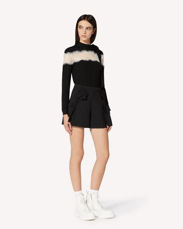 REDValentino 蕾丝饰带羊毛毛衣