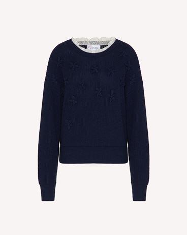 REDValentino  羊毛混纺毛衣,点缀刺绣花卉