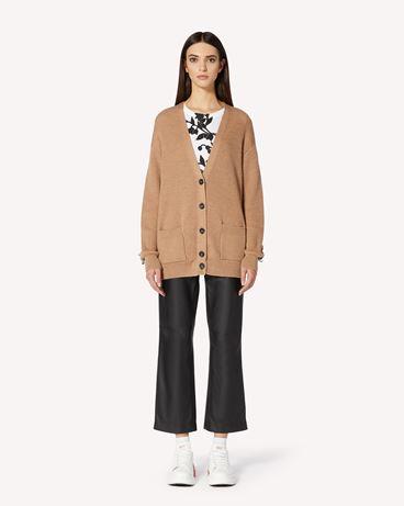 REDValentino 褶饰细节羊毛针织开衫