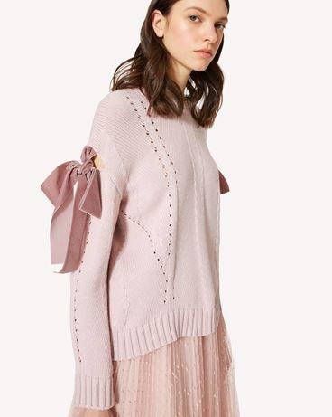 REDValentino 蝴蝶结细节羊毛混纺毛衣