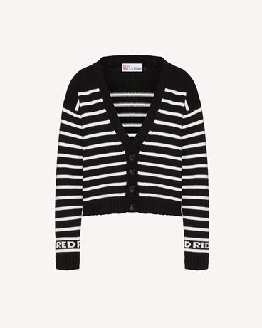 REDValentino 条纹羊毛混纺针织开衫