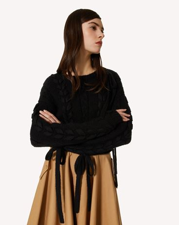 REDValentino 马海毛混纺毛衣配线饰