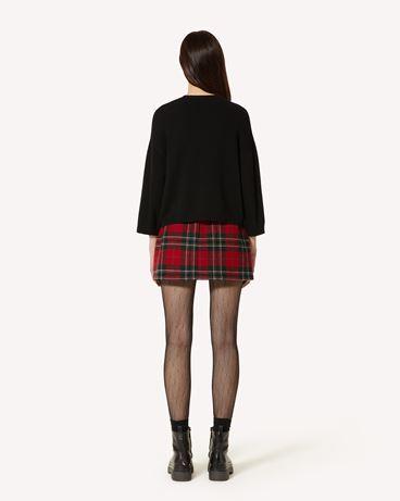 REDValentino 玫瑰刺绣羊毛混纺毛衣