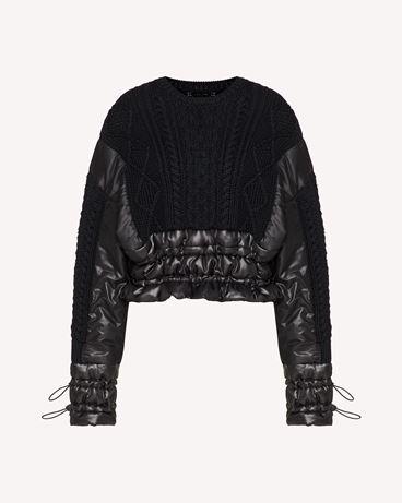 "REDValentino ""The Black Tag""。 - 羊毛与尼龙毛衣"