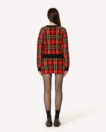 REDValentino 花呢格羊毛开衫