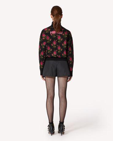 REDValentino  玫瑰提花马海毛混纺毛衣