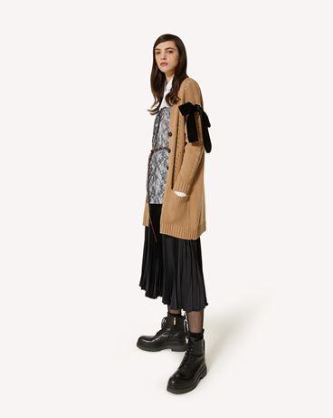 REDValentino 蝴蝶结细节羊毛混纺开衫
