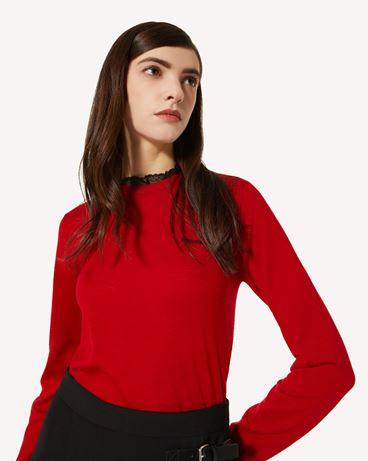 REDValentino 羊绒混纺毛衣配蕾丝
