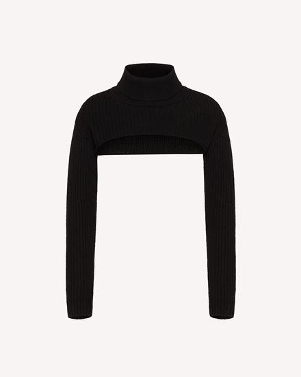 羊毛混纺针织上衣