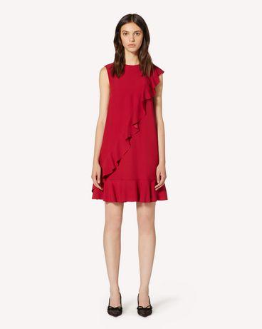 REDValentino 褶饰细节缎背绉绸连衣裙