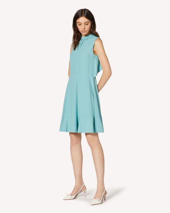 REDValentino  褶边缎背绉绸连衣裙