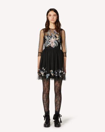 REDValentino TR3VA12F4T4 0NO 短款连衣裙 女士 f