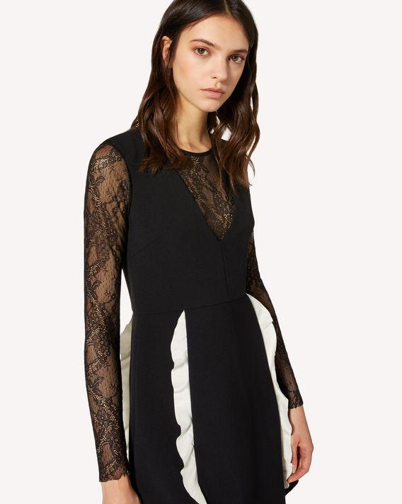REDValentino 褶饰细节科技卡迪连衣裙