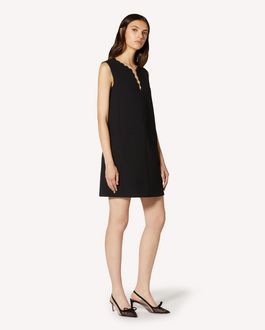 REDValentino 扇形细节双层科技织物连衣裙
