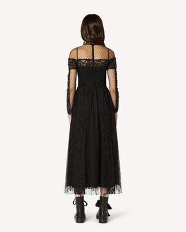 REDValentino Macramè 饰带蕾丝与细点网眼薄纱连衣裙