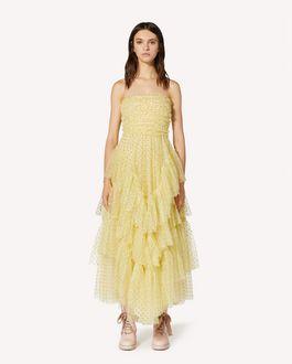 REDValentino 特别款亮片波点薄纱连衣裙