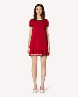 REDValentino 褶边弹力粘胶连衣裙