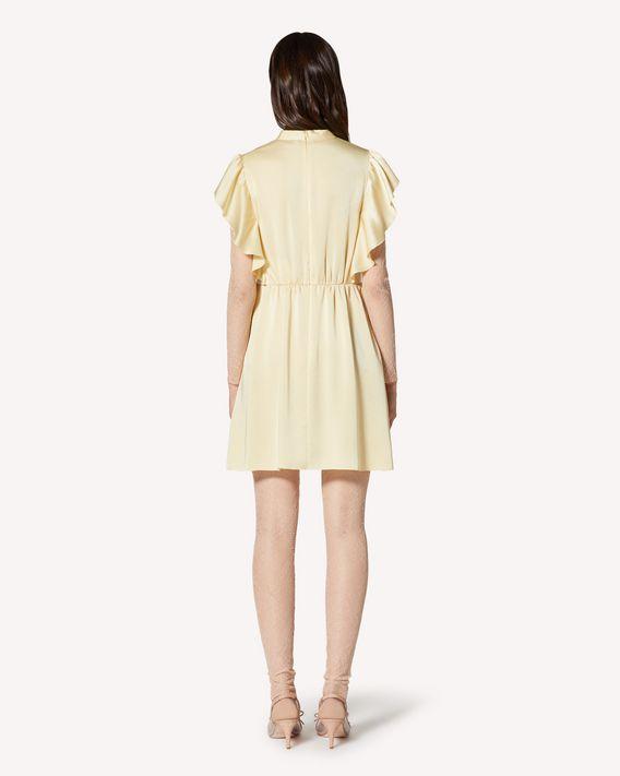 REDValentino  垂顺缎布连衣裙