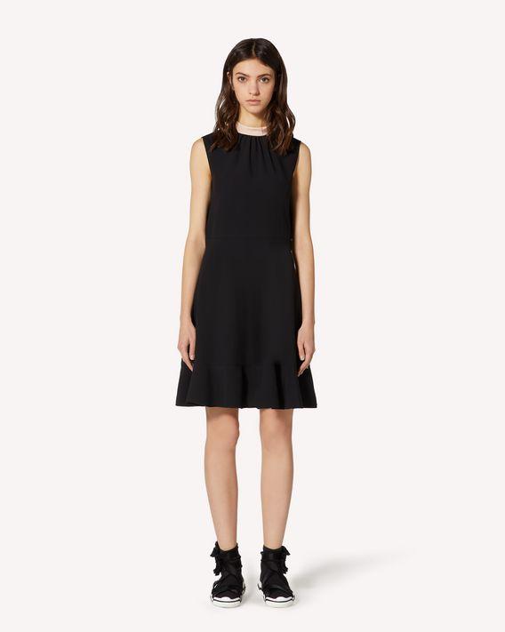 REDValentino 特别胶囊系列 褶边缎背绉绸连衣裙